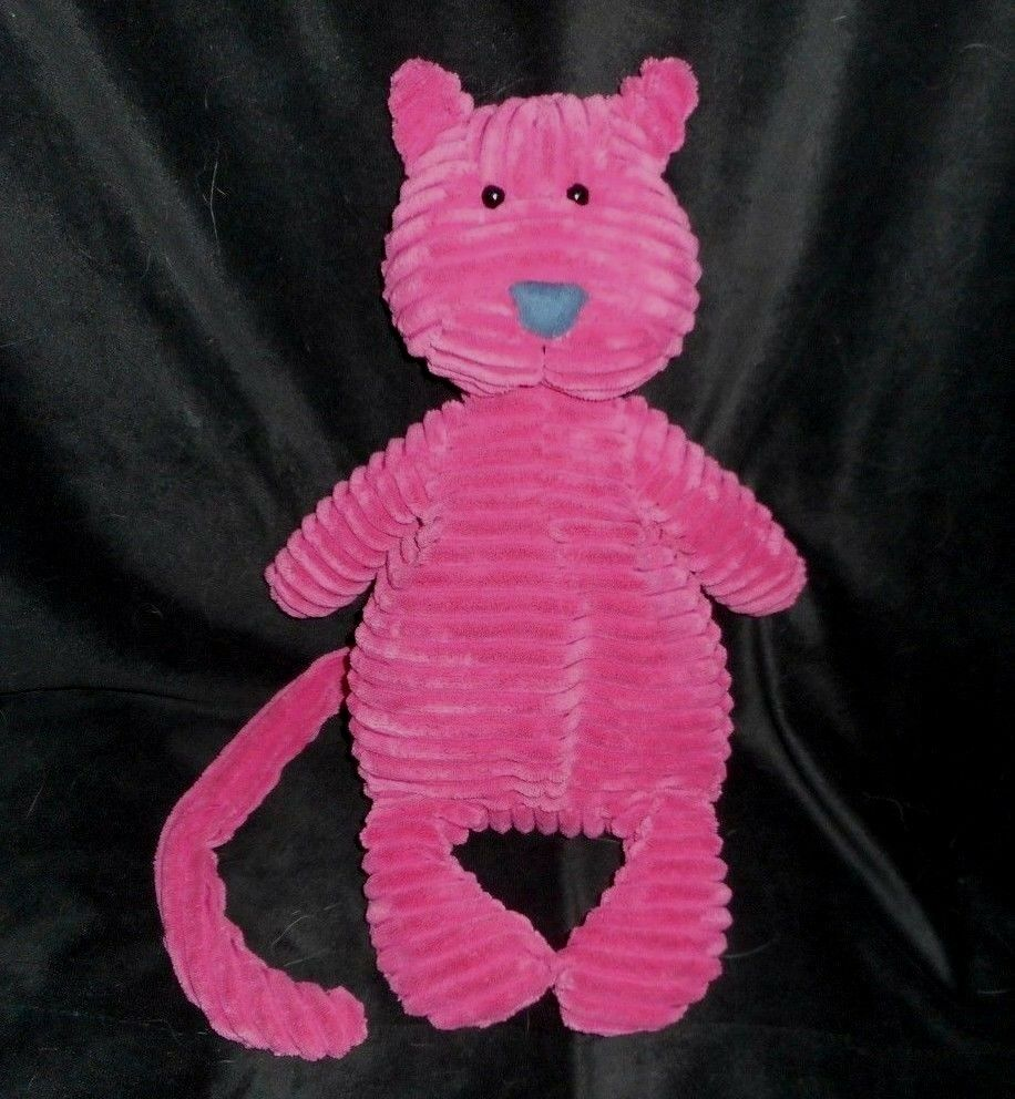 16  JELLYCAT BABY CORDY ROY DARK PINK KITTY CAT RIBBED STUFFED ANIMAL PLUSH TOY