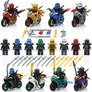 8PCS-LOT-NINJA-motorcycle-Set-Kai-Jay-Cole-Zane-Nya-Lloyd-With-Weapon-Fit-Lego