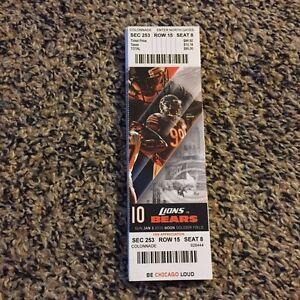 Nike NFL Jerseys - 2016 Chicago Bears vs Detroit Lions NFL Ticket Stub 1 3 Lamarr ...