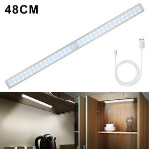 Details zu 64 LED Unterbauleuchte Mit Bewegungsmelder USB Licht Leiste  Küche Schrank