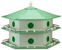 Purple Martin Ah-12d Deluxe Bird House, 6 In L X 12 In W X 14 In H, Aluminum