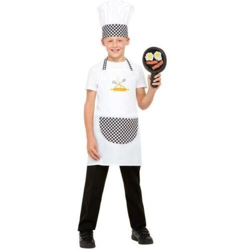 KIDS CHEF KIT HEAD COOK BOYS GIRLS UNIFORM CHILDS FANCY DRESS BOOK DAY COSTUME