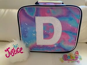 Justice Girl/'s Initial /'O/' Sequin UNICORN Lunch Tote Lunch Box NWT