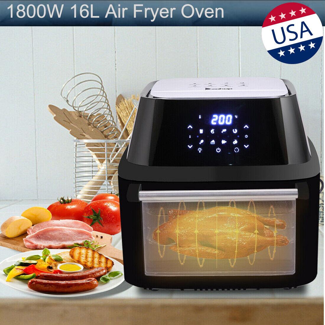 Farberware Digital Air Fryer Oven Rotisserie Toaster 3.2qt