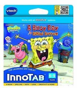 Vtech-Innotab-Spongebob-Squarepants-Software-A-Busy-day-In-Bikini-Bottom-Age-6-9
