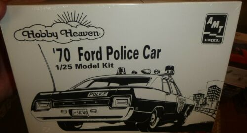 AMT HOBBY HEAVEN 1970 FORD POLICE INTERCEPTOR POLICE 1//25 Model Car Mountain FS