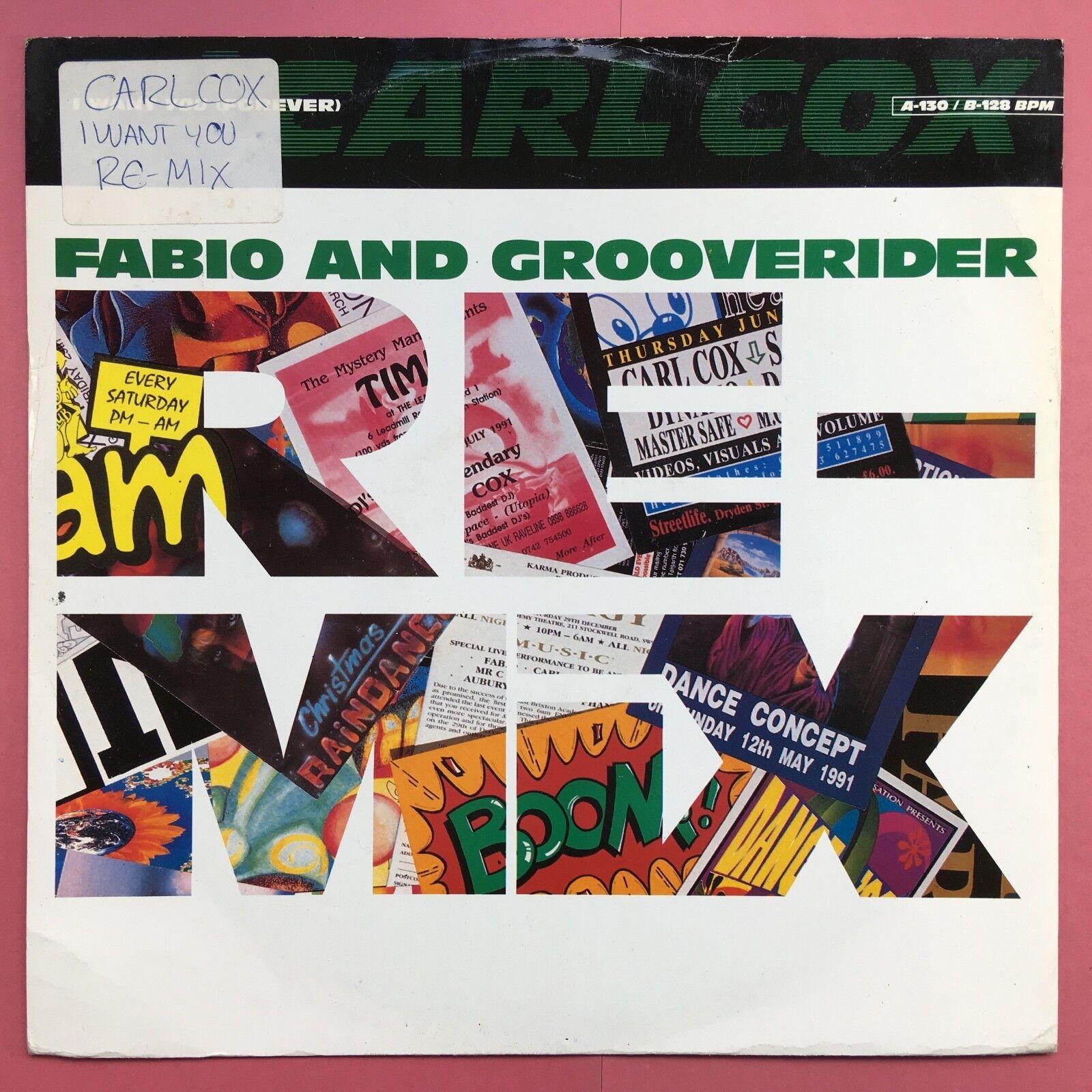 DJ Carl Cox - I Want You (örökre) - Fabio és Grooverider - PT-44938 Ex