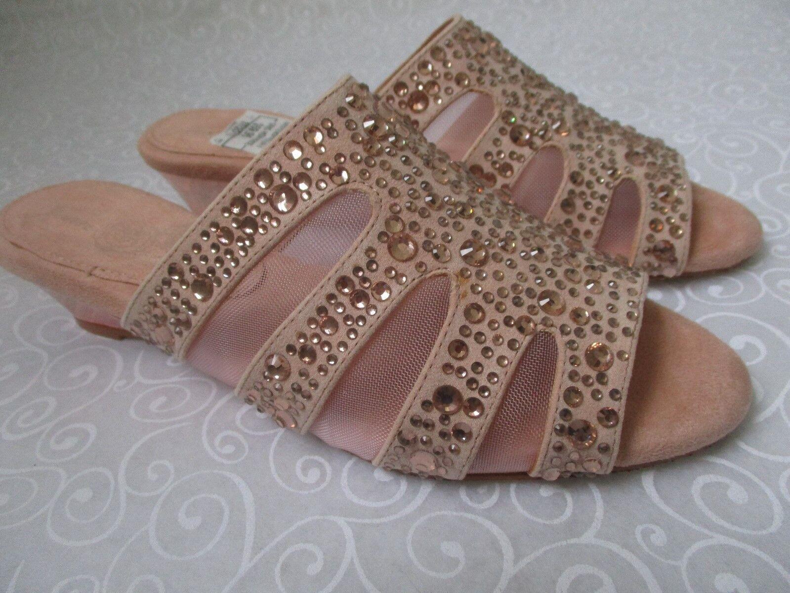 Joan Boyce azulsh Malla de de de diamantes de imitación Cuña Zapatos Talla 11 M-Nuevo  Ahorre 35% - 70% de descuento