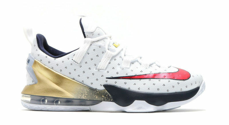 Nike Lebron XIII Low USA Olympic Dream Team gold Mens Basketball shoes 11 831925