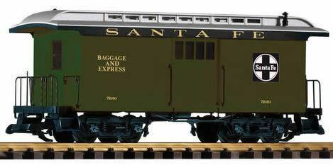 PIKO G SCALE SF WOOD BAGGAGE CAR 72493 GREENBN38626