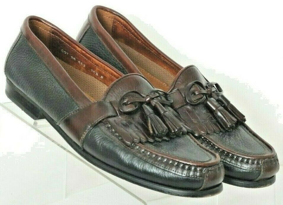 Johnston & Murphy Passport 20-552 Tassel Italy Slip On Loafers shoes Men's 10.5