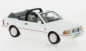 Neo-44956-Ford-Escort-Mk-4-descapotable-modelo-del-coche-de-carretera-Cuerpo-Blanco-1986-1-43rd
