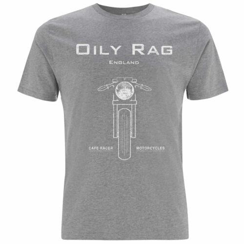 Oily Rag Clothing Black Label Cafe Racer T-Shirt Grey