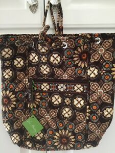 327175dec2d0 Image is loading Vera-Bradley-Retired-Rare-Brown-Canyon-Backsack-Book-