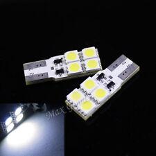 2XHigh Power CANBUS 0.8W 80lm T10 4-SMD 5050 LED White Light Decoding Car bulb
