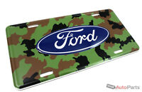 Ford Camo License Plate Aluminum Stamped Embossed Metal Tag