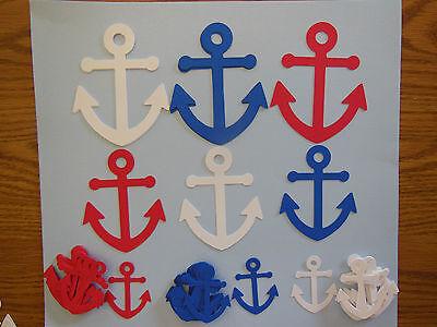 Nautical Anchor party supplies, confetti, centerpiece, decor birthday shower