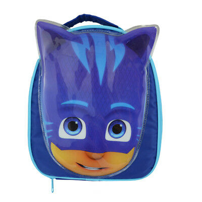 Official Pj Masks Catboy Face Shape Blue Insulated Lunch Bag Box