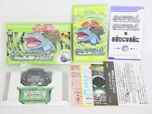 Pokemon-Leaf-Green-Adapter-MINT-Condition-Game-Boy-Advance-Nintendo-gba