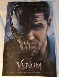 SDCC-Comic-Con-2018-Marvel-Venom-Exclusive-Cast-Signed-Poster-Tom-Hardy-LE-LOT-A