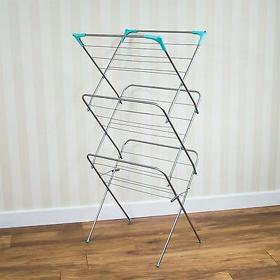 Laundry Airer 3 Tier Drying 14M Drying Space Towel Clothes New By Home Discount