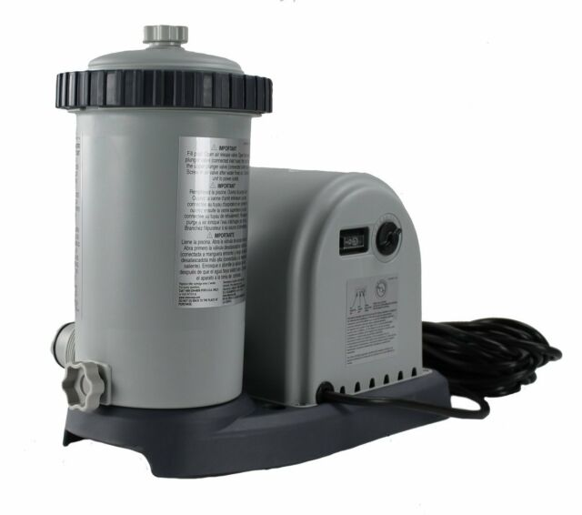 Intex Krystal Clear 1500 Cartridge Filter Pump Only Above Ground Swimming Pool