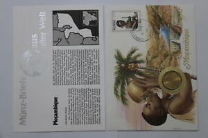 MOZAMBIQUE-1-METICAL-1982-COIN-COVER-A98-76