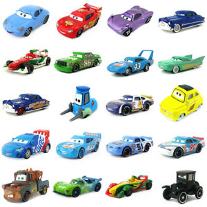 Disney-Pixar-Cars-McQueen-Lizzie-Sheriff-Diecast-Toys-Model-Car-1-55-Kids-Gift