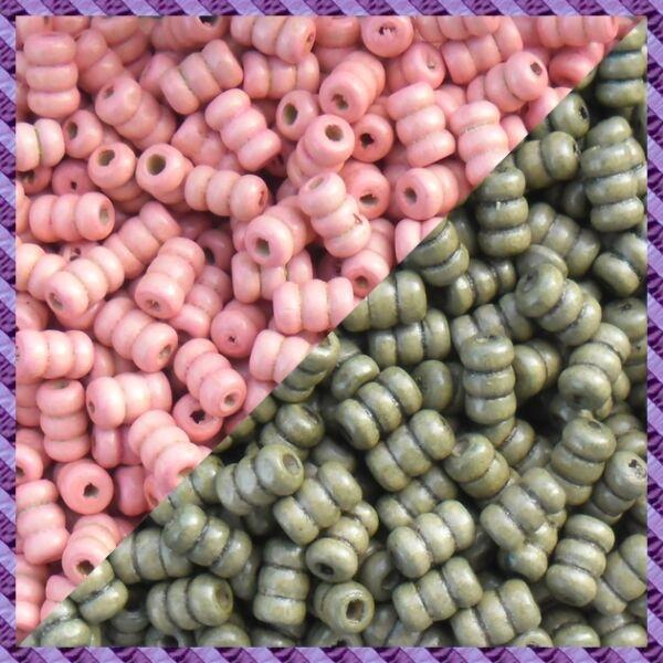 50pcs 18mmx5mm side drilled purple glass beads jewellery making craft UK