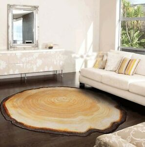 Country-Style-Round-Shag-Rugs-Anti-Slip-Bedroom-Mats-Home-Bath-Floor-Carpet