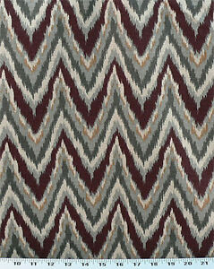 Drapery-Upholstery-Fabric-Cotton-Flame-Stitch-Design-100K-DRubs-Burgundy-Gray
