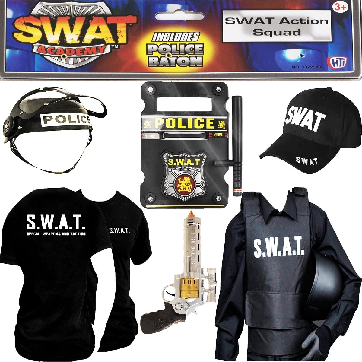 Men Swat Police Force Fancy Party Costume Accessories Hat