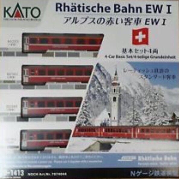 vendita scontata online di factory outlet Kato 10-1413 - Swiss RHB EW I - 4pcs 4pcs 4pcs Basic Set-N GAUGE  acquista marca