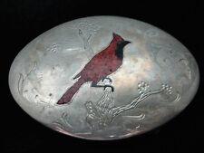 QD01158 VINTAGE 1970s **CARDINAL (BIRD)** SOUTHWESTERN DESIGN ART BELT BUCKLE