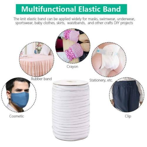 10Yards Length DIY Braided Elastic Band Cord Knit Band Sewing 1//4 inch 6mm US
