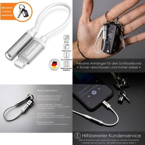 Kopfhörer Auxlight Aux Adapter Premium Kabel Für Iphone Telefonieren  Musik,