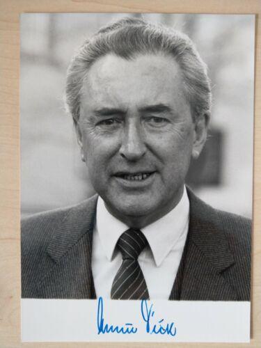 Alfred Dick Original Autogramm Politiker Umweltminister CSU