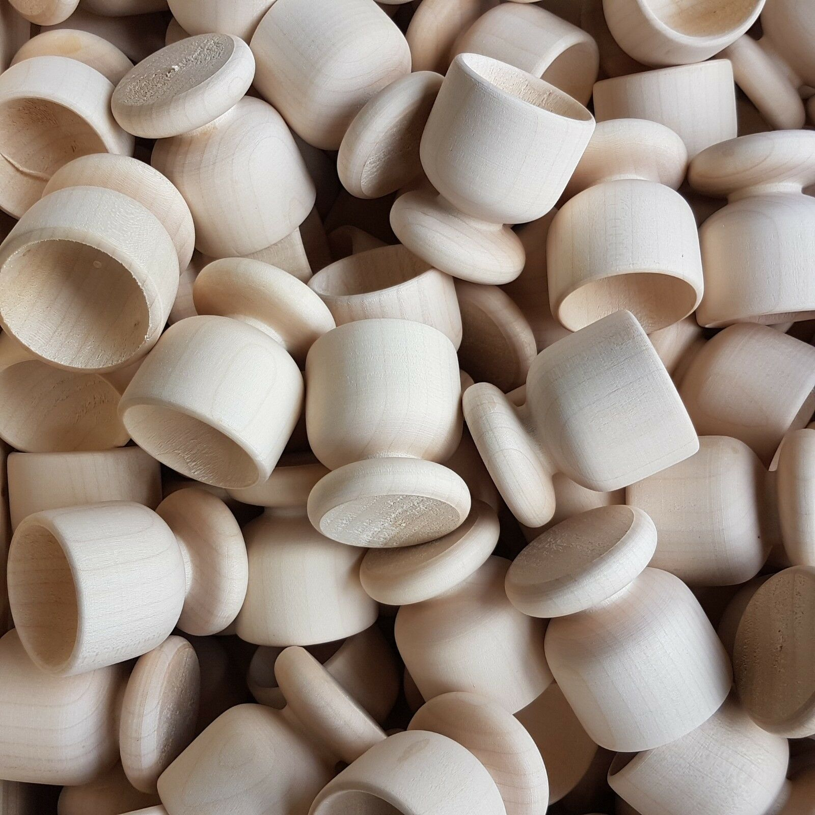 Set 50 pezzi di pianura Portauova in legno, 100% 100% 100% di legno naturale 549086