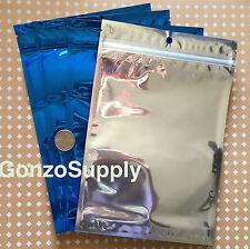 400pc Lot 6x9 Ziplock Mylar Bags Blue Clear Bags Food Prep Storage Odor Proof