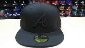 54c7a5c5faae9 New Era MLB Atlanta Braves Team Basic All Black 59FIFTY Fitted Cap ...