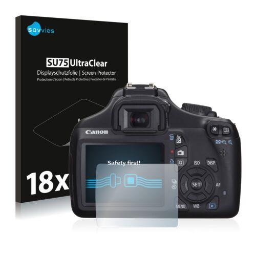 Pellicola di protezione schermo 18x per Canon EOS 1100d Pellicola Protettiva Chiara Pellicola Display Pellicola
