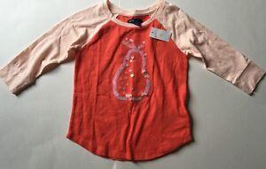 NWT Gap Kids Willow Orange Peach Top T-shirt S 6/7