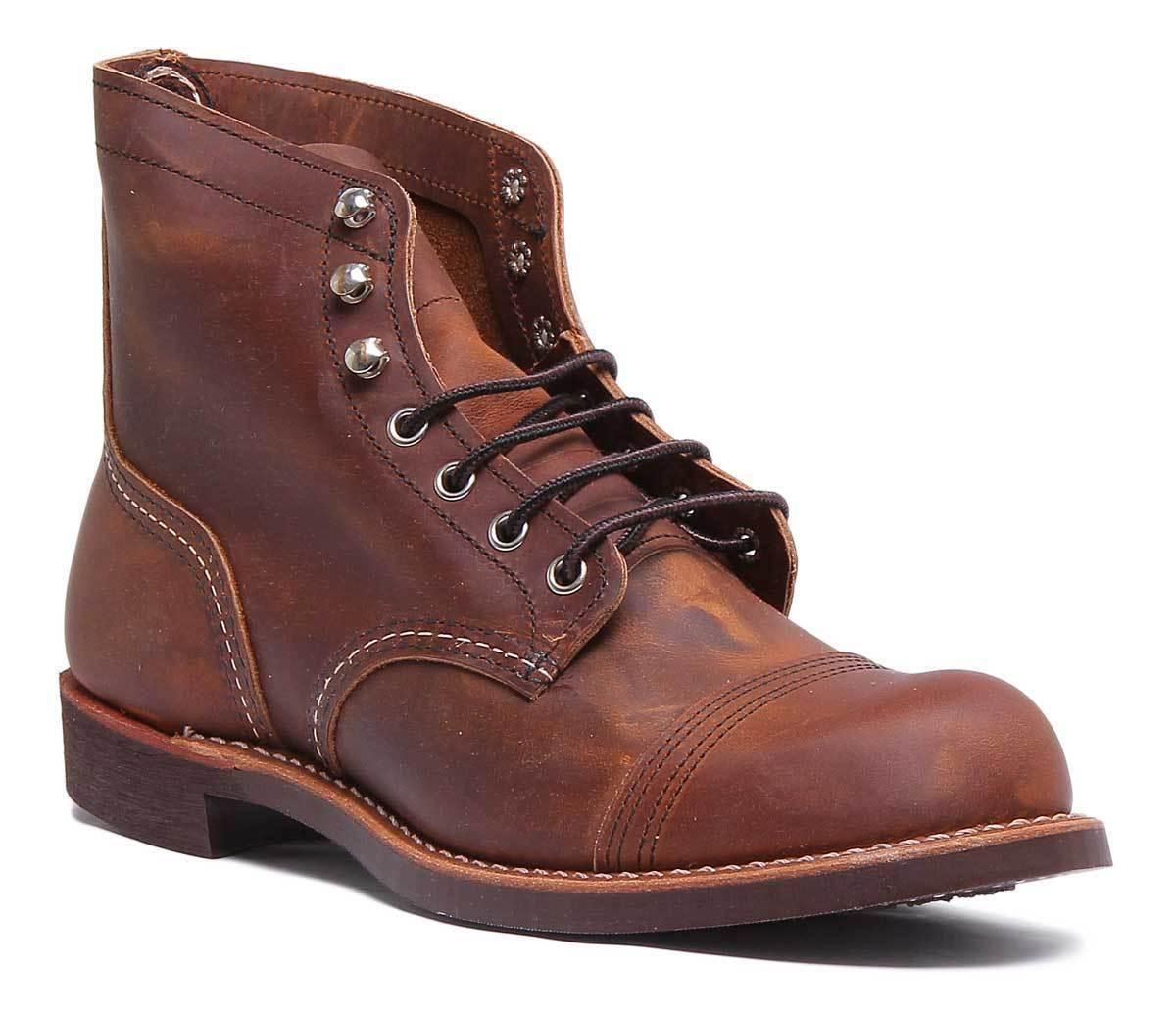 rot Wing 8085 Iron Ranger Mens Leather Matt Ankle Stiefel In Copper Größe UK 6 - 12