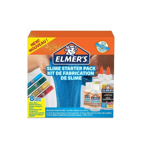 Elmer's Colle Slime Starter Kit-Ensemble 8 Pièces-Fast Free Uk post