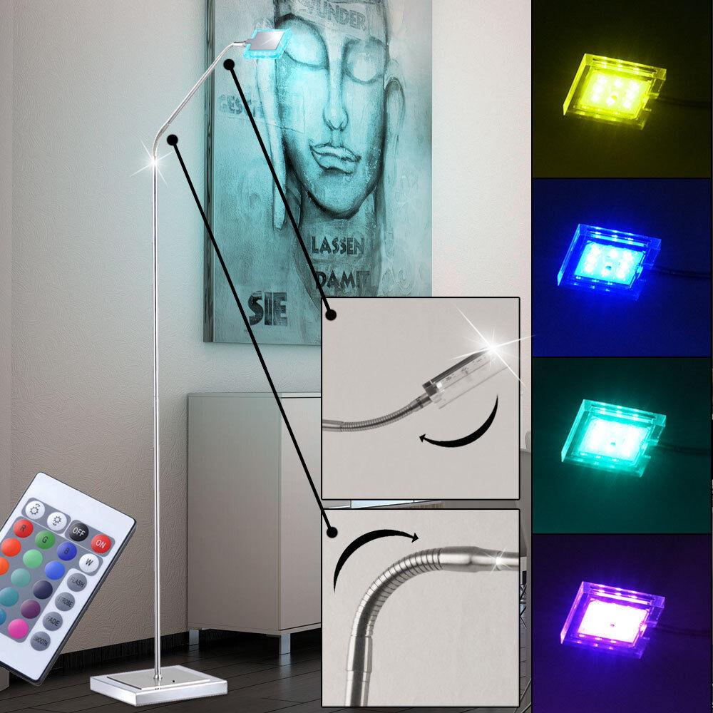 RGB LED Steh Leuchte FERNBEDIENUNG Wohn Zimmer Beistell Beistell Beistell Lampe DIMMBAR EEK A | Moderate Kosten  |  644857