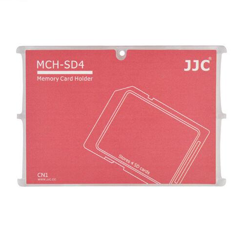 Carte Mémoire Flash Rangement Organiseur Boîte pour 4 Cartes SD