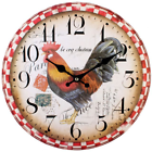 Something Different Shabby Chic Cockerel Rustic Clock French 34cm Kitchen Farm