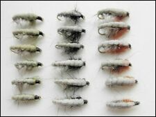 Czech Nymph Trout Flies, 18 Pack, Olive, Black & Brown, Also good for Grayling