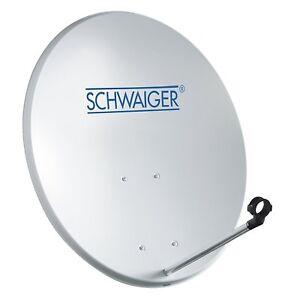 SCHWAIGER Satelliten Schüssel 55cm Sat Spiegel Antenne digital hdtv hd 4k Alu
