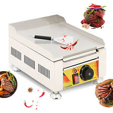 2000w 128 Electric Countertop Griddle Flat Top Commercial Restaurant Bbq Grill